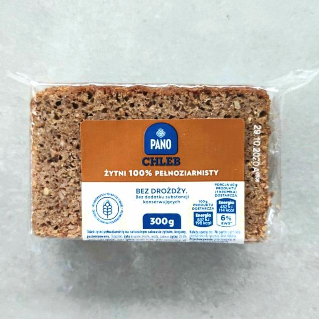 Chleb żytni 100% pełnoziarnisty dostępny w Biedronce