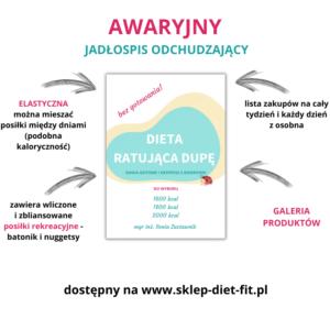 Dieta ratująca dupę jadłospis awaryjny bez gotowania diet aodchudzająca
